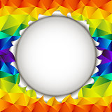 triangular rainbow open background