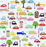 baby vehicle pattern design. vector illustration art