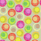 Circles seamless pattern - vector background for continuous replicate.