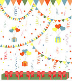 Birthday vector background art illustration cute retro