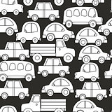 Seamless background of cars vector illustration cut