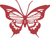 Simple red butterfly vector design