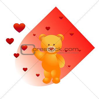 Bear and hearts
