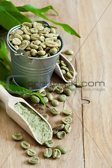 Green coffee background