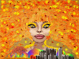 Abstract autumn girl
