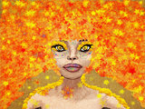 Fantasy autumn girl