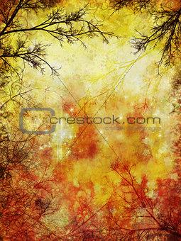 Grunge autumnal background