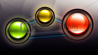 Three buttons