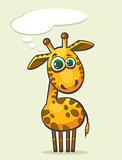 Cartoon giraffe.