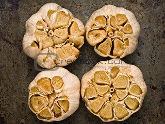 aromatic baked garlic