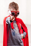 red cloak  kid livingroom superhero