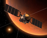 "Spacecraft ""Mars Express"" Orbiting Mars."