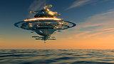 Futuristic Sky Station