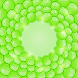 Bright Green Bubble Background