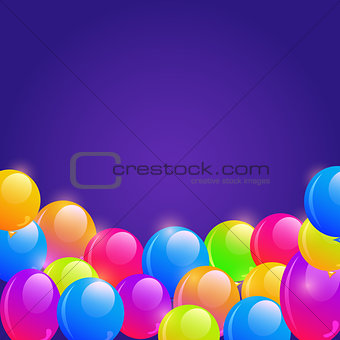 Bright Balloon Frame Background