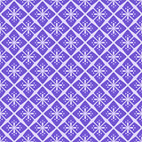 Seamless Purple Floral Geometric Pattern