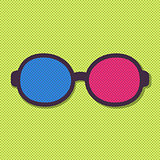 Vector 3d Flat Simple Glasses Icon