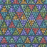 Dotted Triangle Seamless Background