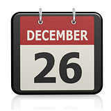 December 26, Boxing Day calendar