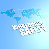 Worldwide safety world map