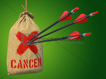 Cancer - Arrows Hit in Red Mark Target.