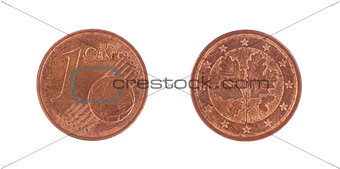 One euro cents coin