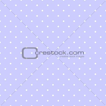 Tile vector pattern with white polka dots on a pastel blue background.
