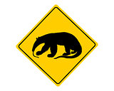 Anteater warning sign