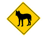 Dingo warning sign