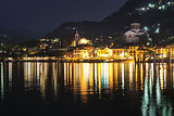 Laveno-Mombello, city lights