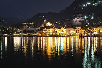 Laveno-Mombello, city lights