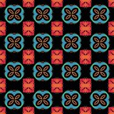 Seamless fractal pattern with flowers