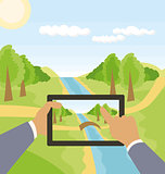 Vector Outdoors Cartoon Landscape