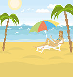 Vector Outdoors Cartoon Sea Landscape