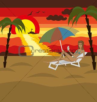 Vector Outdoors Cartoon Sea Landscape
