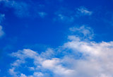 Blue sky and white clouds and the sun