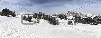 Alta Badia, ski slopes in the Dolomites