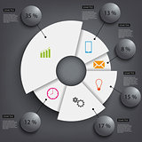 Abstract black round info graphic template