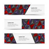 Abstract pyramid horizontal banners