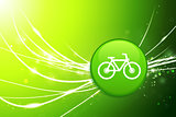Bicycle Button on Green Abstract Light Background