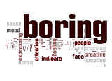 Boring word cloud