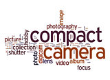 Compact camera word cloud