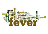 Fever word cloud