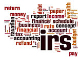 IRS word cloud