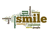 Smile word cloud