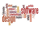 Software design word cloud