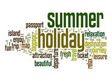 Summer holiday word cloud