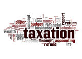 Taxation word cloud