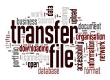 Transfer file word cloud