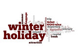 Winter holiday word cloud